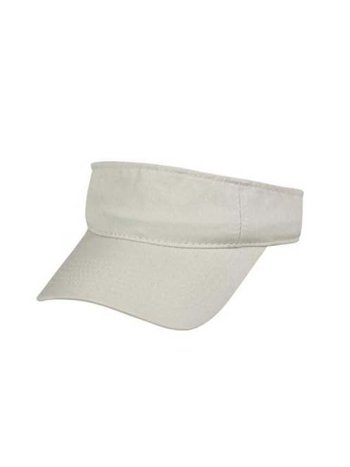 Outdoor Cap Mens Garment Washed Cotton Twill Visor GWTV100