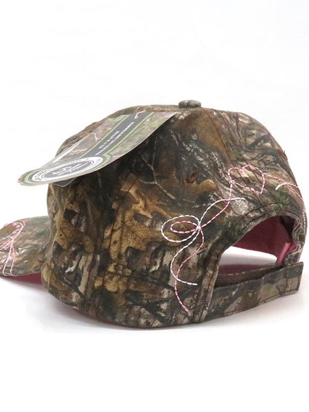 Justin PDG-73493 All Over Pink Logo Velco Cap Camo
