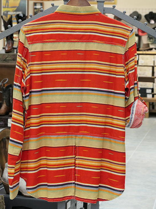Ryan Michael Q1662SX Womens Serape Stripe Print Snap Shirt back