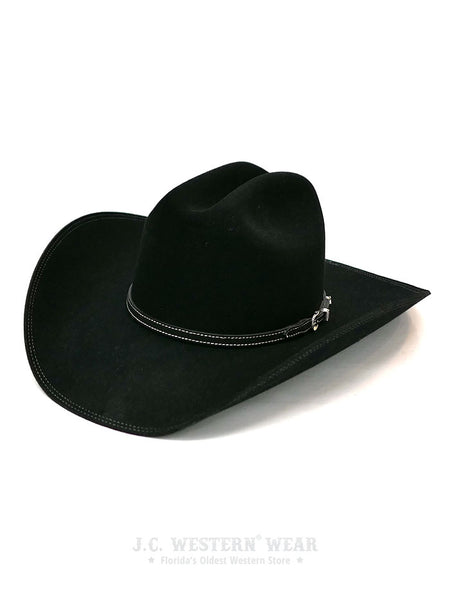 Resistol RFHELR-5240 Heeler 6X Felt Cowboy Hat Black George Strait Collection Front