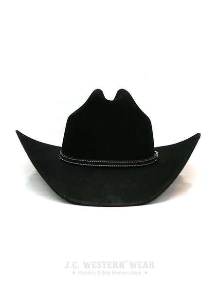 Resistol RFHELR-5240 Heeler 6X Felt Cowboy Hat Black George Strait Collection Cattleman Crown