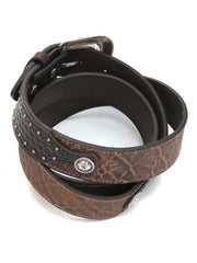 Roper Mens Brown Conchos LARGE SIZE Leather Belt 8584500 Brown