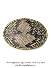 Skin Shop® USA Snake Skin Solid Brass Belt Buckle SS001