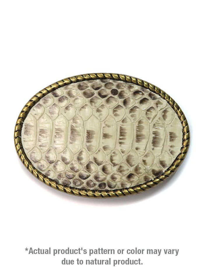Skin Shop® USA Snake Skin Solid Brass Belt Buckle SS002