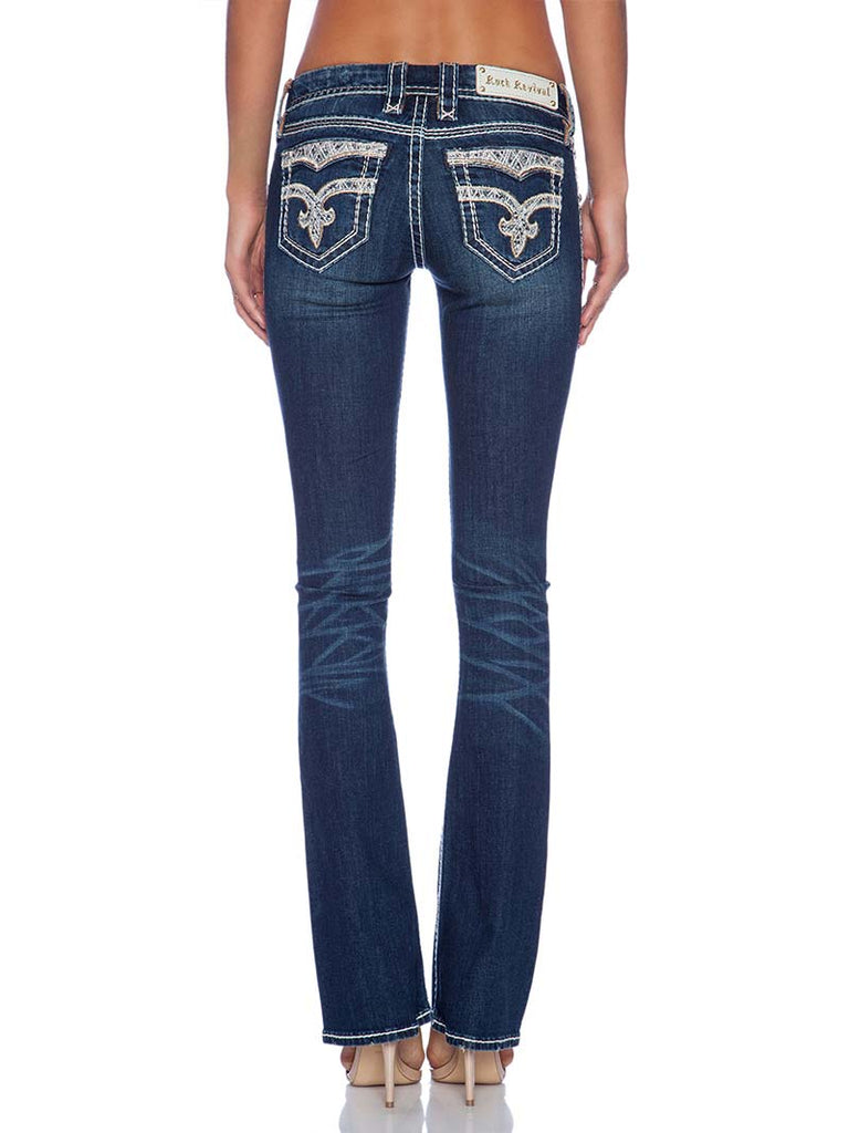 64cc5e03c56 Rock Revival Womens Tricia Woven Royal Boot Cut Jean RP9170B200 Rock  Revival - J.C. Western®