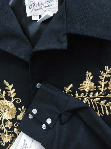 Rockmount Mens Gold Floral Embroidery Vintage Bolero Jackets 1115