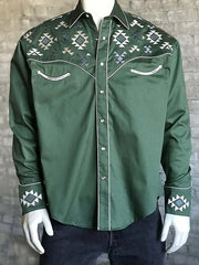 Rockmount Mens Vintage Native Embroidered Western Shirt 6783