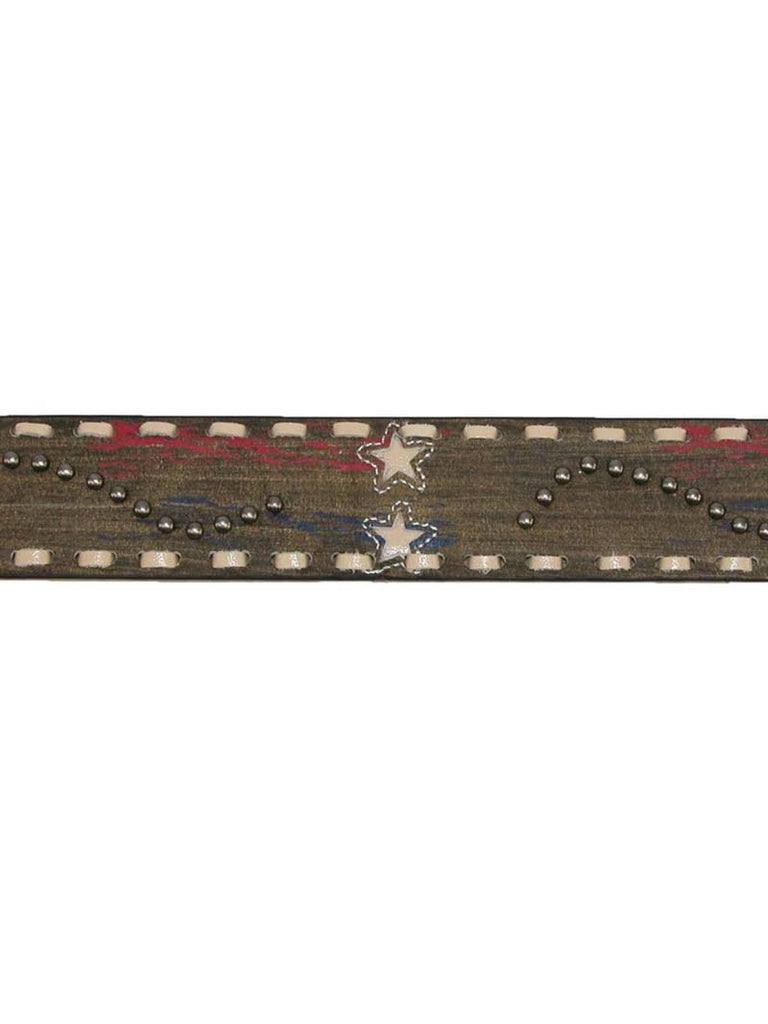 Roper Womens Distressed Leather Stars and Studs Americana Belt 8810790