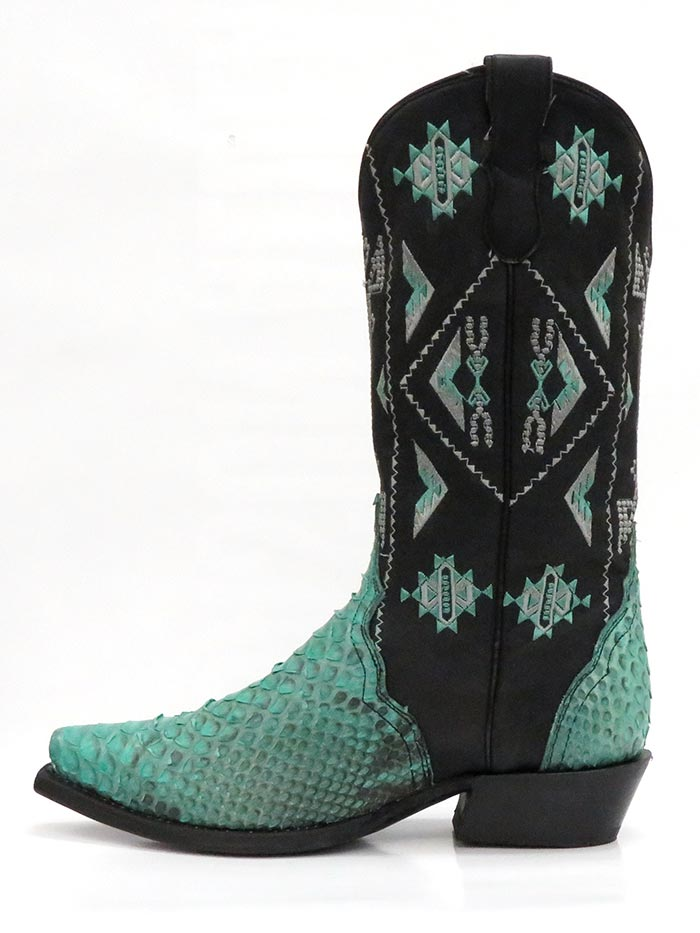 Roper 8143BU Womens Exotic Python Snip Toe Fashion Boot Turquoise Pair at JC Western Wear 09-021-6601-8143 BU