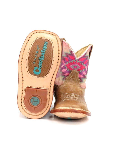 Roper Infants Multicolor Aztec Square Toe Cowbaby Boot 1367TA sole