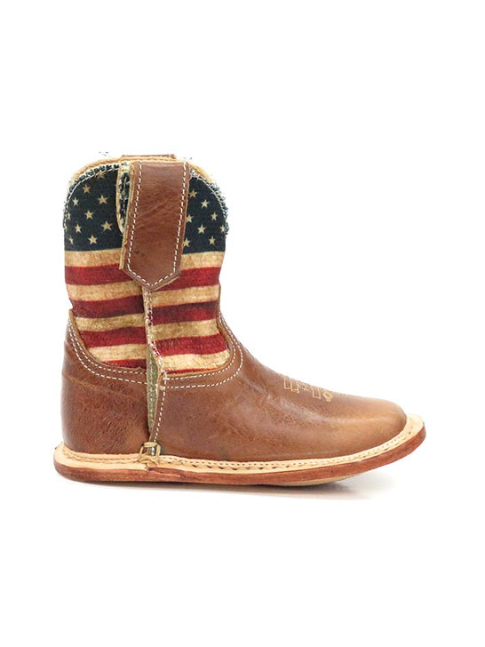 Roper Infants Stars & Stripes Cowbaby Flag Western Boot 1368BR Right Side