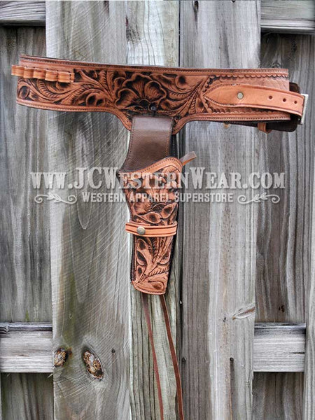 Western Gun Belt and Right Hand Draw Holsters