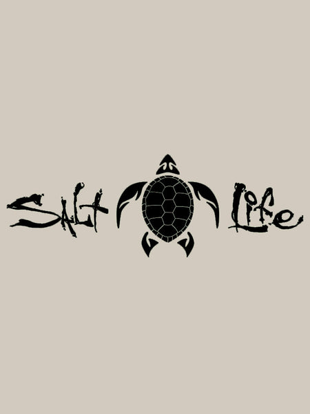 Salt Life SA864 Signature Turtle Decal Sticker 12x4 Black- D
