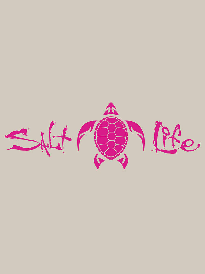 Salt Life SA864 Signature Turtle Decal Sticker 12x4 Pink