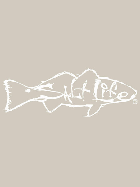 Salt Life SA873 REDFISH Decal Sticker 12x4 White