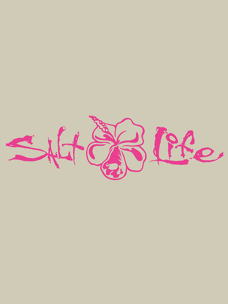 "Salt Life SAD931 Signature HIBISCUS Decal Sticker 12""x4"" Pink"