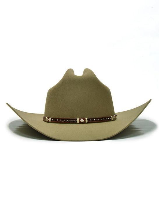 Stetson SFMNTYT-724262 Mens Monterey 6X New Frontier Western Hat Fawn Front
