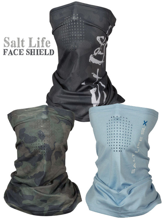 Salt Life Multifunctional Unisex SLX Mission Face Shield Ebony Blue Heather Army