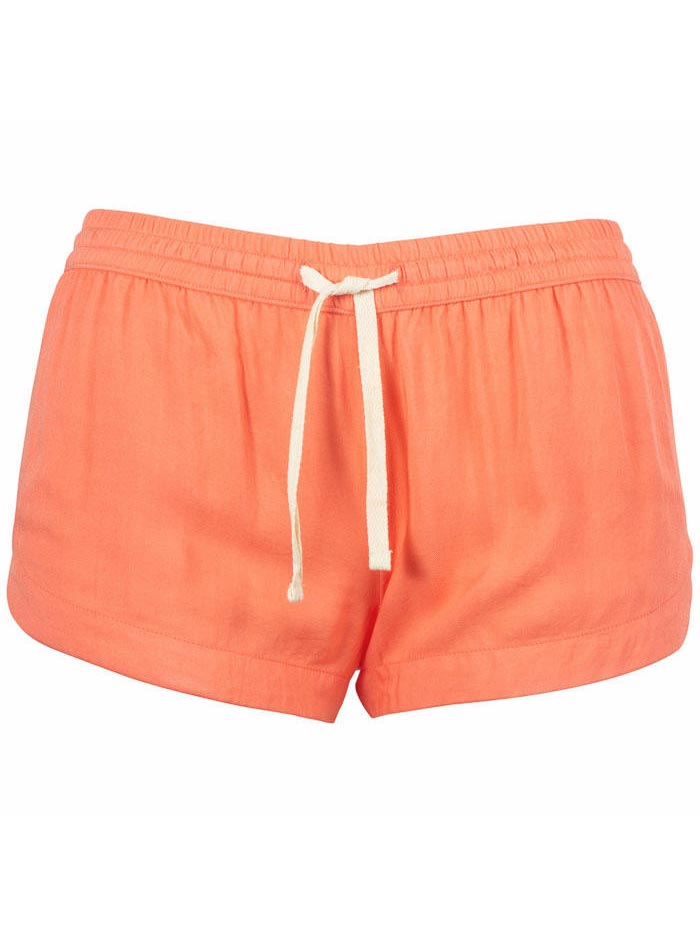 Salt Life SLJ436 Women Junior Relaxed Fit Scalloped Leg Short Coral