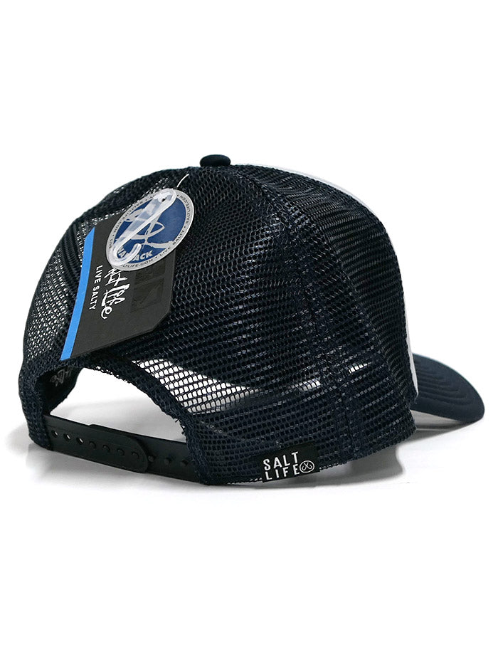 Salt Life SLM20130 Fish Surf Dive Icons Trucker Cap Grey With Navy