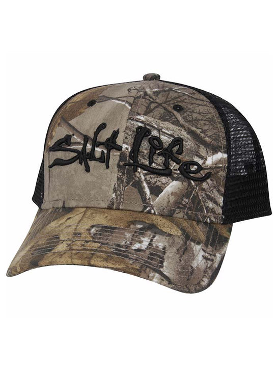 Salt Life INCOGNITO RealTree Camo/Black Snapback Trucker Hat SLM290-XTRA Front