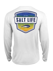 Salt Life Youth Electric Skinz LS Performance Tee SLY634 White