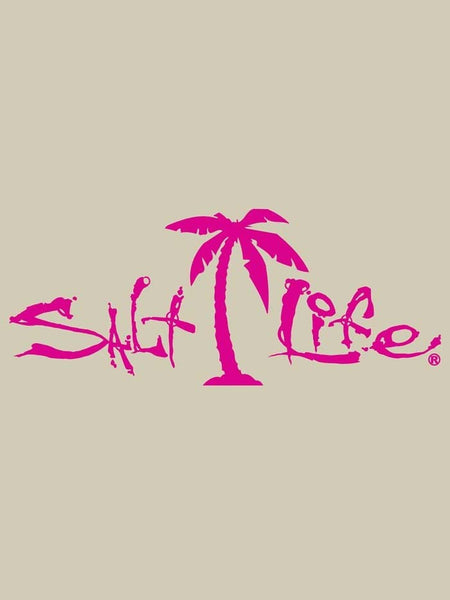 Salt Life Signature Palm Tree Decal Sticker 12x5 SA188-PNK Salt Life - J.C. Western® Wear