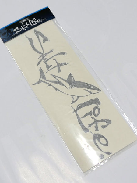 Salt Life SAD925 Medium 12x4 Signature Shark Decal Black package