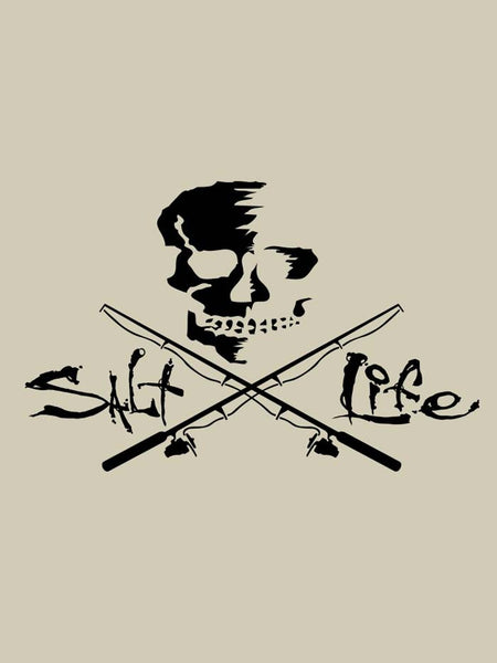 Salt Life Skull and Poles Decal Sticker 11x6 SAD934-BLK Salt Life - J.C. Western® Wear