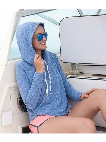 Salt Life Womens Sea Tides Lightweight Tri-Blend Hoodie SLJ545-BLU