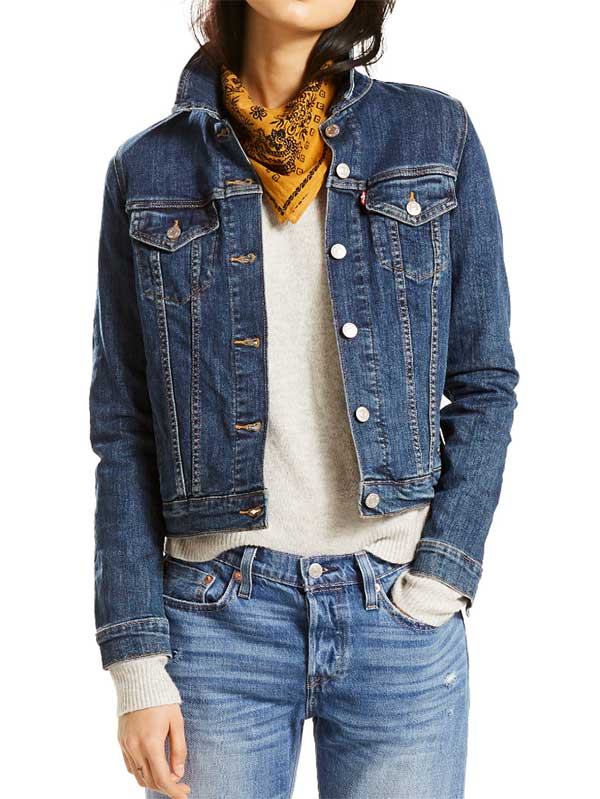 Levis Womens SWEET JANE BLUE Trucker Denim Jacket 299450014