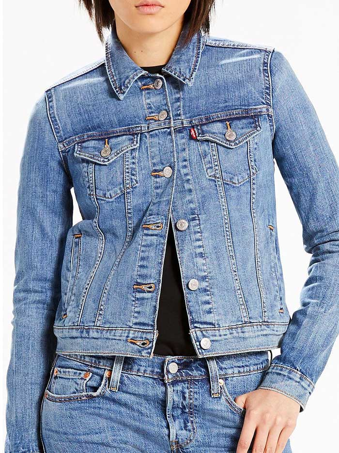 Levis Womens Blue Original Trucker Denim Jacket 299450020