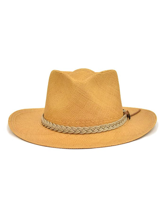 Dorfman Pacific Scala Genuine Panama Outback Straw Hat P122-PUTTY front