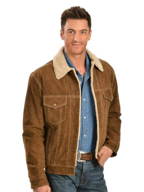 Men S Scully Sherpa Lined Boar Suede Western Jacket 113