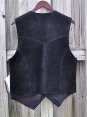 Men's Scully Leather Western Lambskin Snap Front Vest Black 507-214