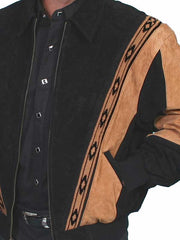 Scully Western Boar Suede Rodeo Leather Jacket Black 62-147