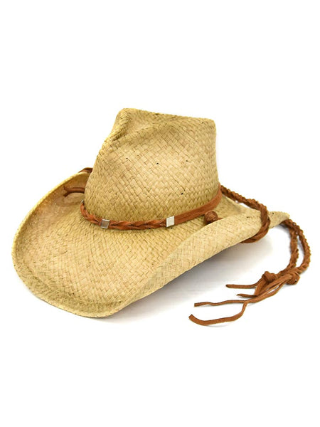 Shady Brady Braided Stampe String Crushable Straw Hats 1DW91C3 Side Front