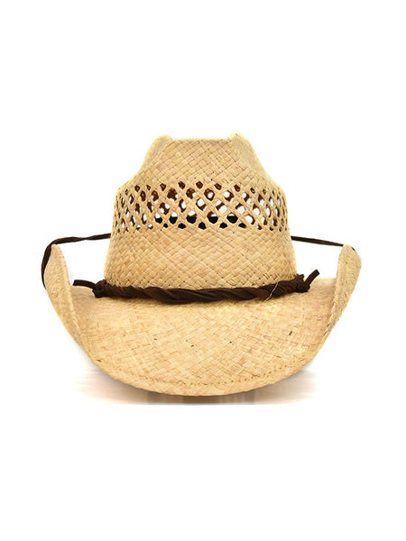 Shady Brady Twisted Leather Band Crushable Straw Hats 1WW47C7 front