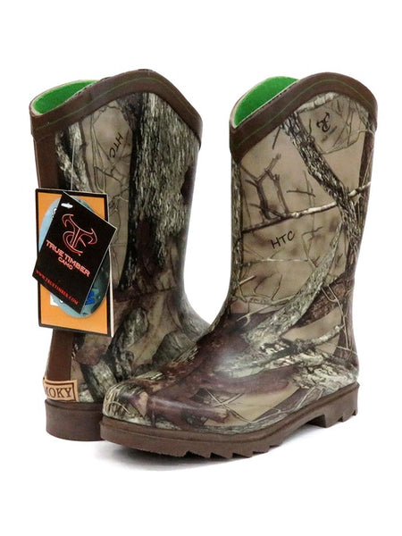 Smoky Mountain Kids Muddy River Waterproof Boots 2723Y 2723C Camo at JC Western Wear