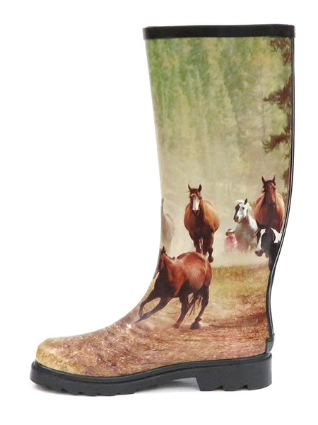 Smoky Mountain 6709 Womens Running Horses Waterproof Boots at JC Western Wear Side View
