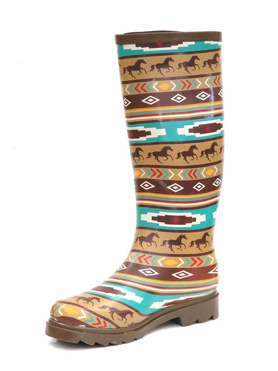 Smoky Mountain Womens Western Running Horses Waterproof Boots 6752 at JC Western Wear