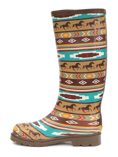 Smoky Mountain 6752 Womens Western Running Horses Waterproof Boots at JC Western Wear Side