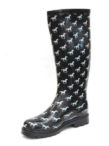 Smoky Mountain Womens Ponies Black Waterproof Boots 6759 at JC Western Wear