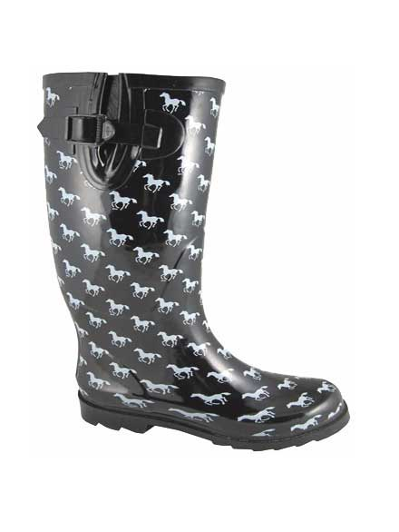Smoky Mountain Womens Ponies Black Waterproof Boots 6759 Side view