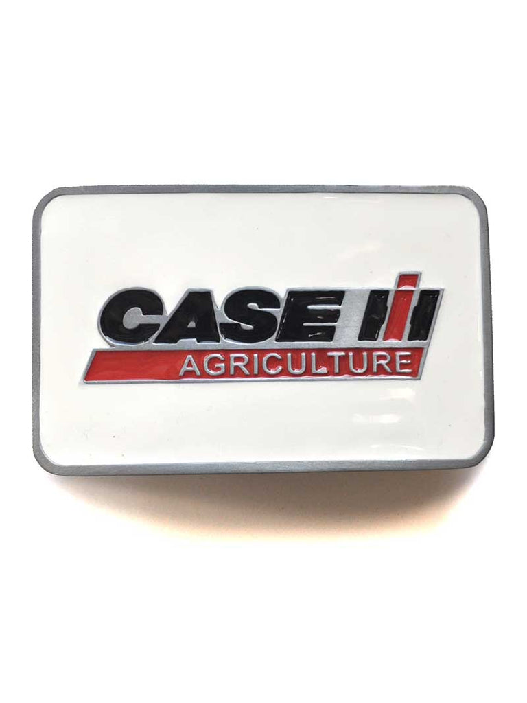 Case IH Agriculture White Enamel Belt Buckle ZJD595 Spec Cast - J.C. Western® Wear