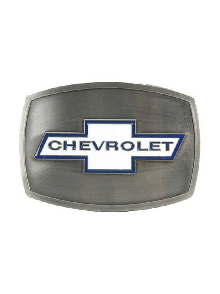 Authentic Chevrolet White Logo Belt Buckle 09043 Spec Cast - J.C. Western® Wear
