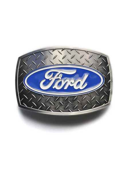 Ford Oval Diamond Plate Belt Buckle 09119