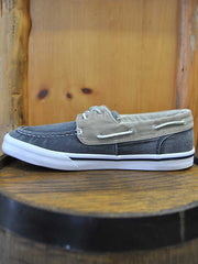 Sperry Mens BAHAMA II Boat Shoes Washed Navy Khaki STS17783 - D