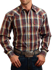 Stetson Mens Sandstone Ombre Long Sleeve Shirt 11-001-0478-0705GY