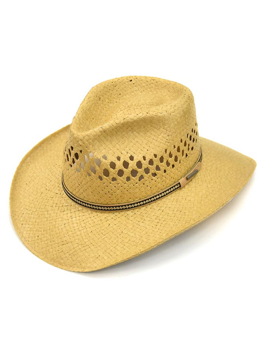 Stetson Men's CANYON Natural Panama Straw Hat SSCNYN-2T3279 side front